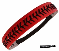 Softball Headband Red/Black