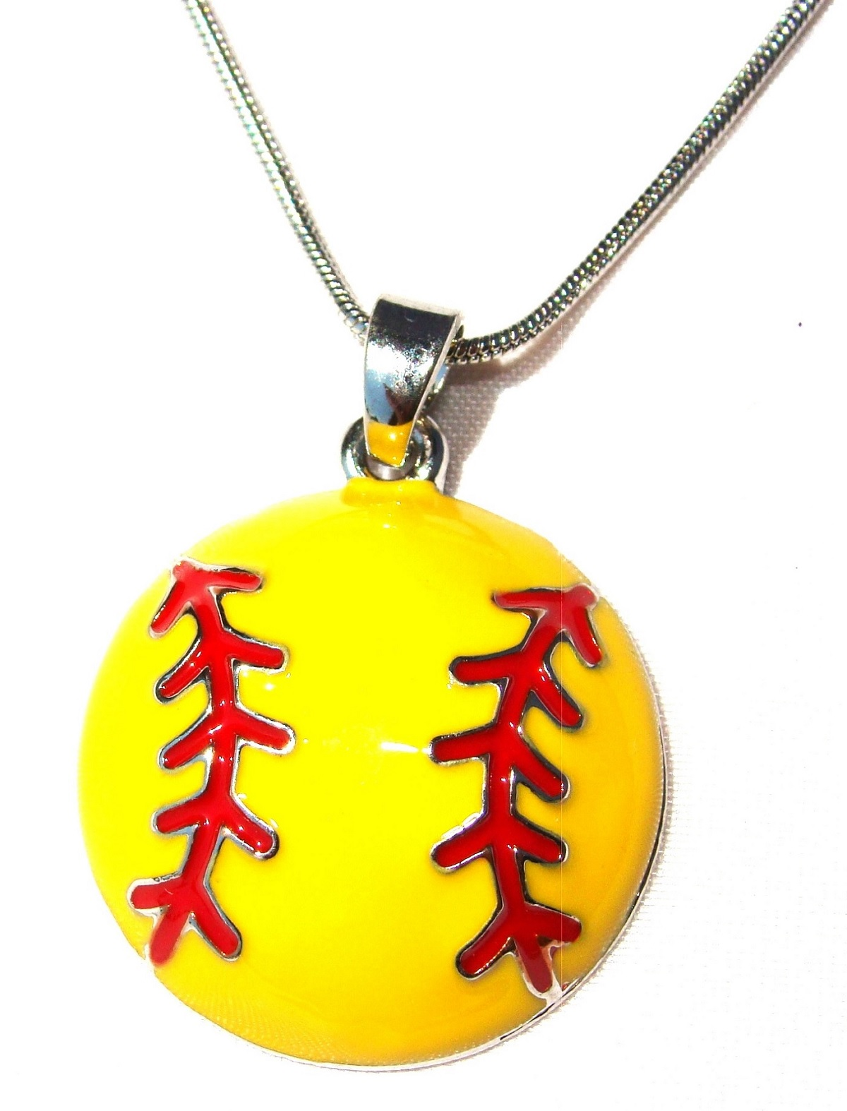 softball stainless and necklace name heart engraved necklaces jewelry shaped baseball eg steel