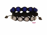 Spheres Rhinestone Bracelets Pack of 3