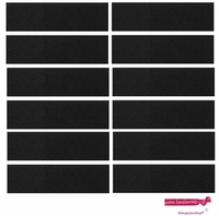 Sweatbands 12 Pack Black