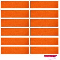 Sweatbands 12 Pack Orange