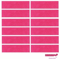 Sweatbands 12 Pack Pink