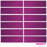 Sweatbands 12 Pack Purple