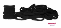 Terry Elastics 100 Pack Black