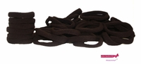 Terry Elastics 100 Pack Dark Chocolate Brown