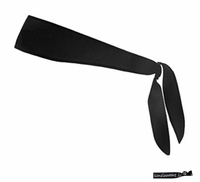 Tie Back Headband Black