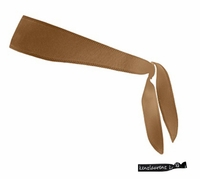 Tie Back Headband Brown
