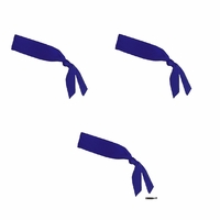 Tie Back Headband Navy 3 Pack