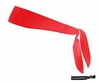 Tie Back Headband Red
