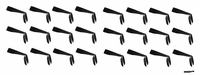 Tie Back Headbands Black 24 pack