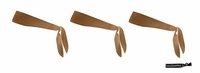 Tie Back Headbands Brown 3 Pack