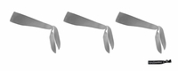 Tie Back Headbands Gray 3 Pack