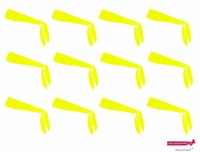 Tie Back Headbands Neon Yellow 12 Pack