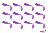 Tie Back Headbands Purple 12 Pack