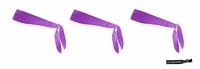 Tie Back Headbands Purple 3 Pack