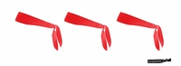 Tie Back Headbands Red 3 Pack