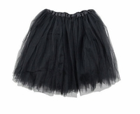 Tutu Mini Shirts for Girls - Black