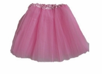 Tutu Mini Shirts for Girls - Light Pink