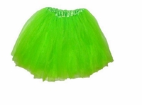 Tutu Mini Shirts for Girls - Lime