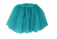Tutu Mini Shirts for Girls - Teal