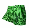 Women's Spandex Shorts - Lime Zebra