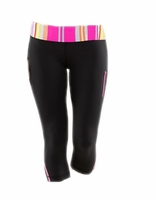 Yoga Capri Pants - Striped