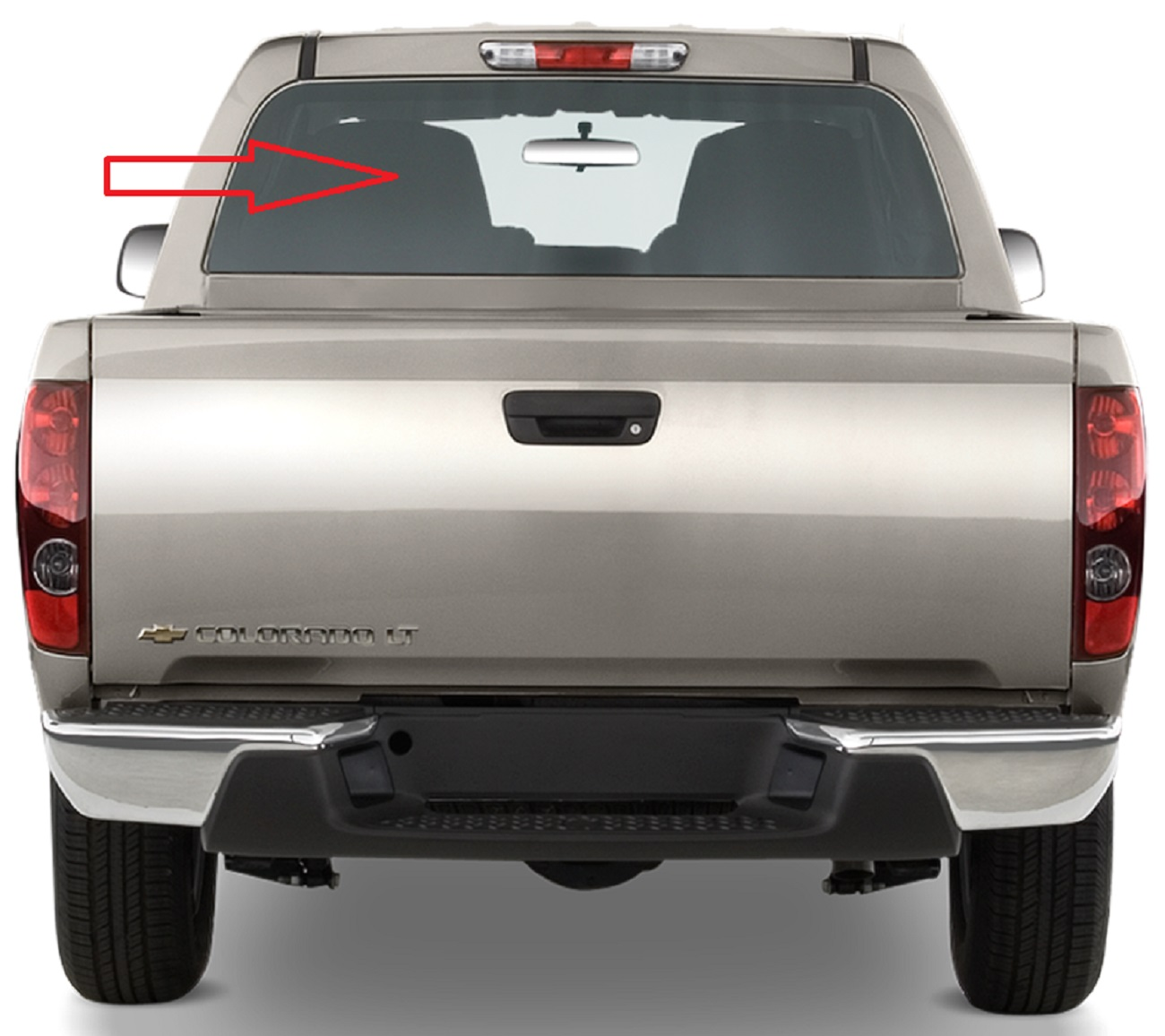 Back Window Glass Chevrolet Colorado 2 Door Extended Cab