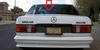 DIY Back Window Glass Mercedes 380SE 4 Door Sedan 1984-1985