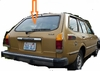 DIY Back Window Glass Toyota Corolla 2 Door Station Wagon 1975-1979