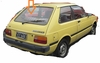 DIY Back Window Glass Toyota Starlet 2 Door Hatchback 1983-1984