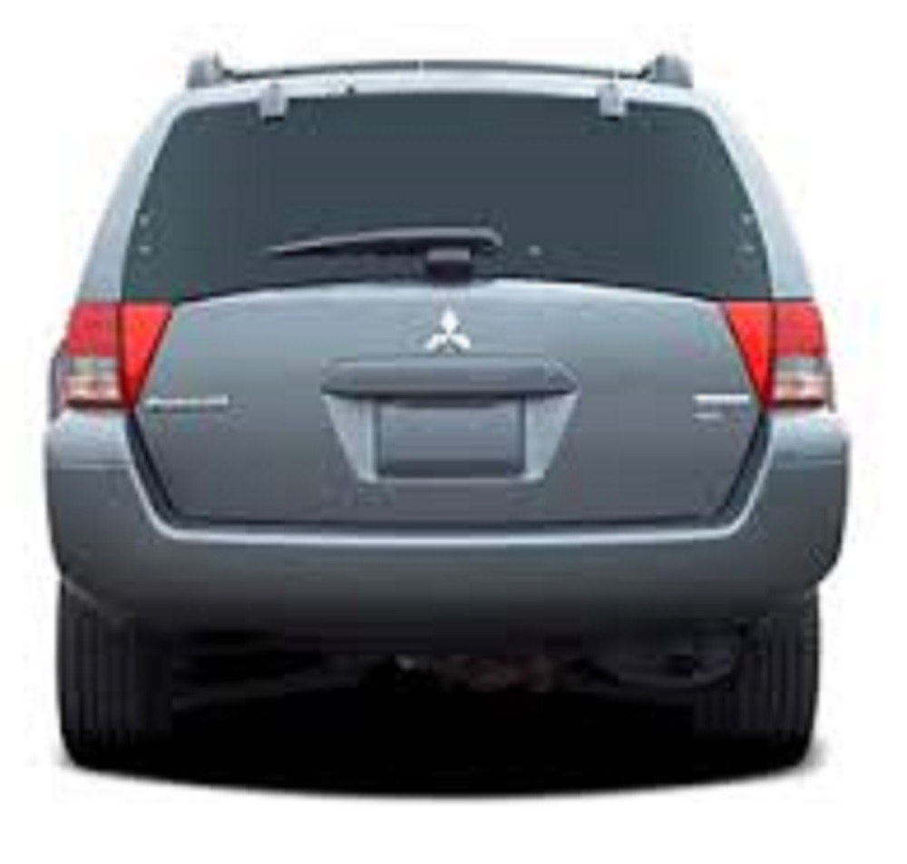 Back Window Mitsubishi Endeavor 4 Door Utility 2004 2006