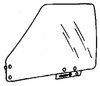 DIY Front Door Glass Driver Side BMW 528 4 Door Sedan 1978-1988