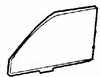 DIY Front Door Glass Driver Side Eagle Medallion 4 Door Sedan 1988