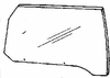 DIY Front Door Glass Driver Side Lincoln Mark VI 4 Door Sedan 80-83