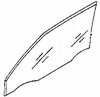 DIY Front Door Glass Driver Side Mercury Tracer Hatchback 1987-1990