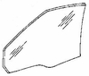 DIY Front Door Glass Driver Side Buick Lesabre 4 Door Sedan 1989-1991
