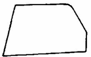 DIY Front Door Glass Driver Side Volvo 240 Station Wagon 1975-1993