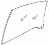 DIY Front Door Glass Driver Side Volkswagen VW Cabriolet 1985-1993
