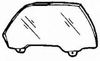 DIY Front Door Glass Passenger Side Honda Civic Sedan 1988-1991