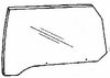 DIY Front Door Glass Passenger Side Lincoln Continental Coupe 1980