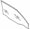 DIY Front Door Glass Passenger Side Mercury Tracer 1987-1990