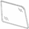 DIY Rear Quarter Glass Passenger Side Ford Escort Station Wagon 81-90