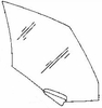 DIY Rear Door Glass Driver Side Audi 100 Station Wagon 1989 - 1991