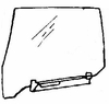 DIY Rear Door Glass Driver Side BMW 735 4 Door Sedan 1985-1987