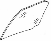 DIY Rear Door Glass Driver Side Eagle Summit 4 Door Sedan 1993-1996