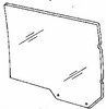 DIY Rear Door Glass Driver Side Ford Crown Victoria Sedan 1983-1991