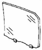 DIY Rear Door Glass Driver Side Honda Accord 4 Door Sedan 1986-1989