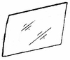 DIY Rear Door Glass Driver Side Isuzu I-Mark 4 Door Sedan 1985-1989
