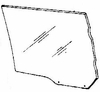 DIY Rear Door Glass Driver Side Lincoln Mark VI 4 Door Sedan 1980-1983