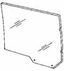 DIY Rear Door Glass Driver Side Mercury Grand Marquis Sedan 1979-1989